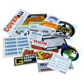 Zeefdruk Stickers