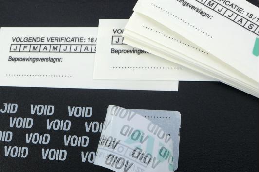 VOID stickers