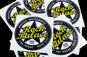 Vinyl stickers gedrukt in zeefdruk